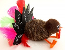 Chalkboard Feather Turkey
