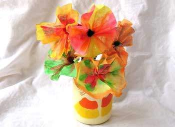 Coffee Filter Thanksgiving Bouquet