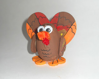 Wooden Egg Turkey