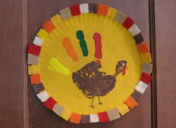 Framed Handprint Turkey
