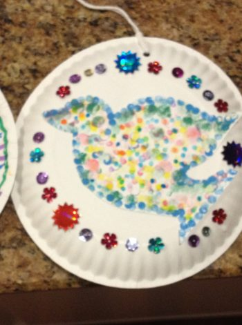 Paper Plate Peace Doves