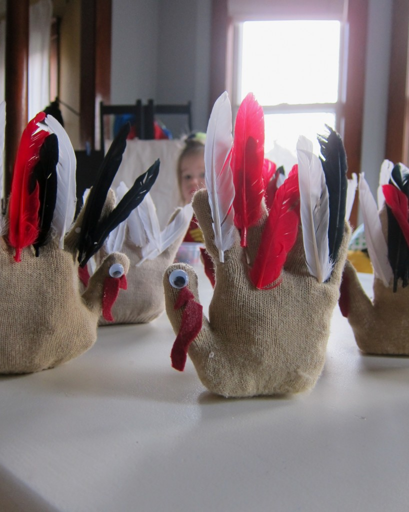 Stuffed Glove Turkeys
