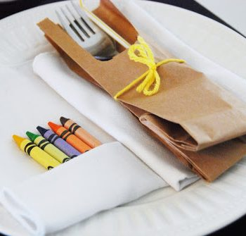 Paper Bag Place Setting