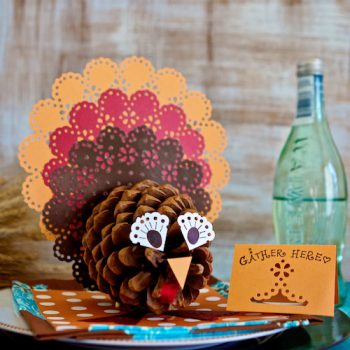Pinecone Turkey Centerpieces