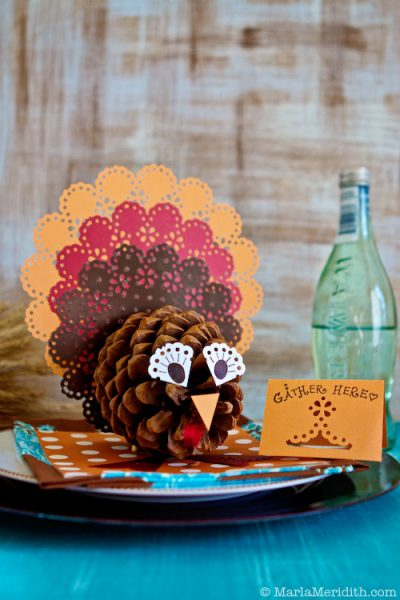 Pinecone Turkey Centerpieces Fun Family Crafts