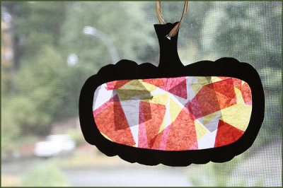 Faux Stained Glass Sun Catchers