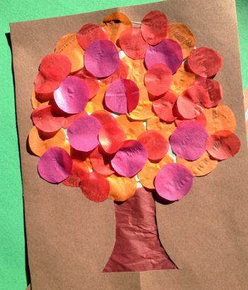 Tissue Paper Fall Tree