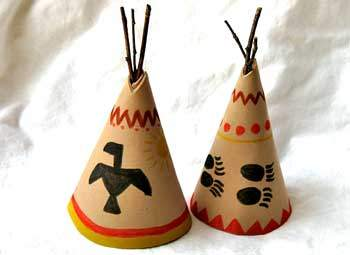 teepee centerpiece fun family crafts. Black Bedroom Furniture Sets. Home Design Ideas