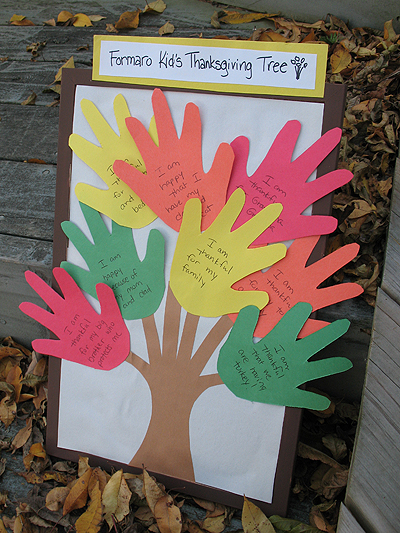 Handprint Thanksgiving Tree Fun Family Crafts