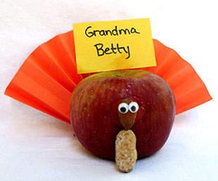 Apple Turkey Place Cards