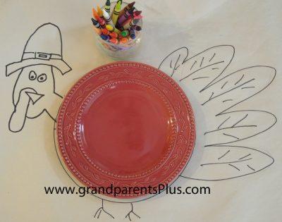 Color Me Turkey Tablecloth
