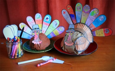 Thanksgiving Turkey Table Craft