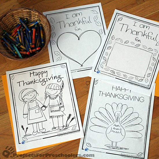 Thanksgiving Coloring Pages Fun Family Crafts