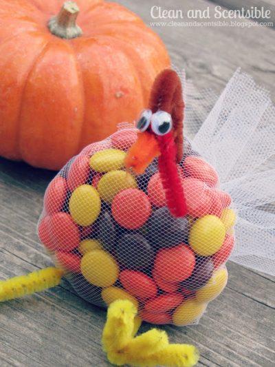 Tulle Turkey Treats Fun Family Crafts