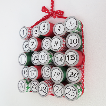 Cardboard Tube Advent Calendar