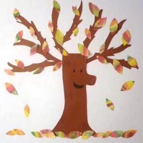 Coffee Filter Fall Tree