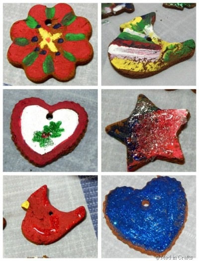 Painted Cinnamon Applesauce Ornaments