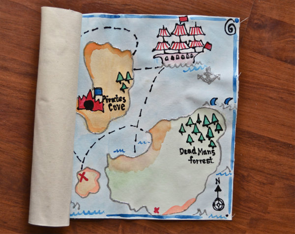 Handmade Treasure Map