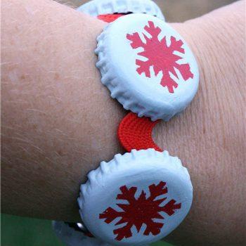 Snowflake Bottlecap Bracelet
