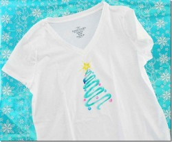 Watercolor Christmas Tree T-shirt