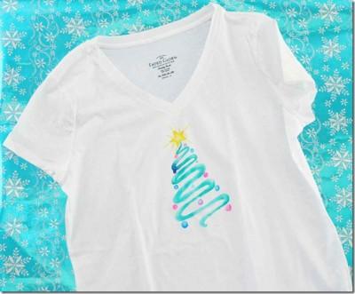 Watercolor Christmas Tree T-shirt