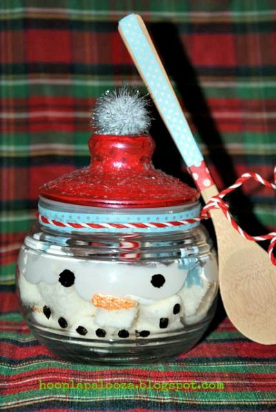 Christmas Snowman Dessert Jars