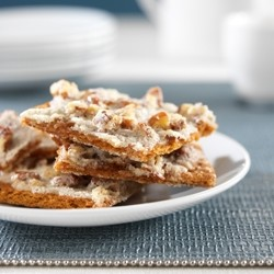 Graham Cracker Praline Bark