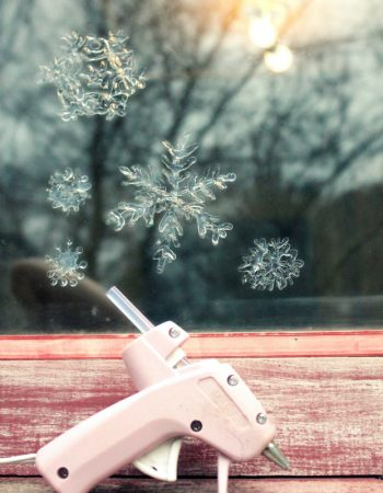 Hot Glue Snowflakes