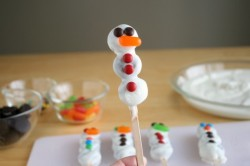 Mini Cookie Snowman Pops