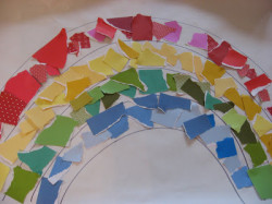 Paper Scrap Rainbow