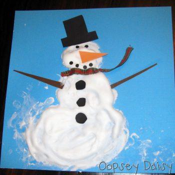 Shaving Cream Snowman