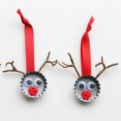 Bottle Cap Reindeer