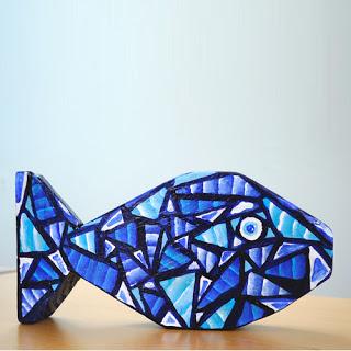 Scrap Wood Mosaic Fish