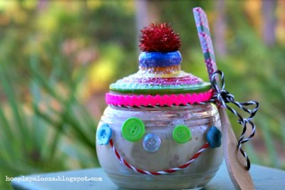 Gingerbread Man Ice Cream Jar