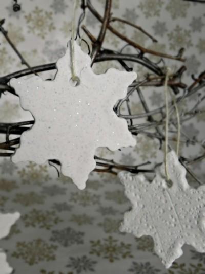 Glitter Clay Snowflake Ornaments
