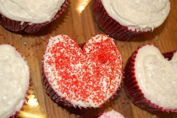 Heart-Shaped Cupcakes
