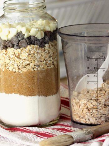 Recycled Cookie Ingredient Jars