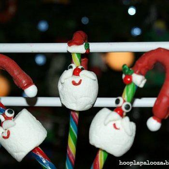 Marshmallow Santa Candy Canes