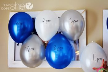 New Year's Countdown Balloons