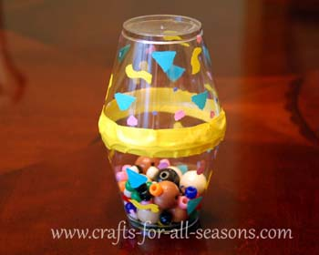 New year 39 s eve party shaker fun family crafts - Crafts made from plastic cups ...