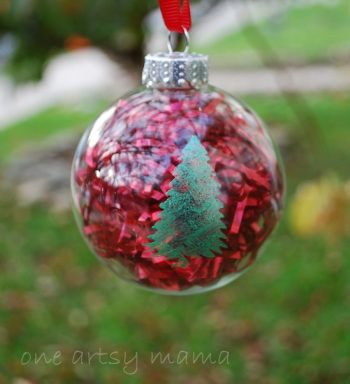 Stenciled Glass Ornaments
