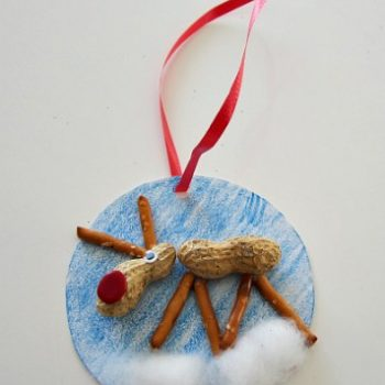Peanut-Pretzel Reindeer