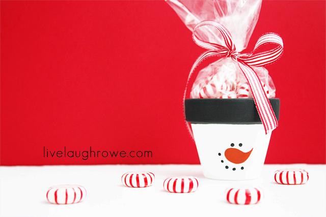 Snowman Candy Pots