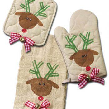 Vegetable Stamped Reindeer