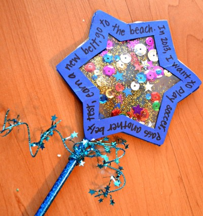 New Years Craft- New Year's Wishing Wand