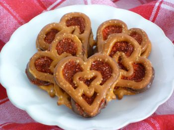 Valentine Heart Pretzels