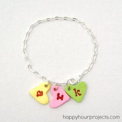 Conversation Heart Charm Bracelet