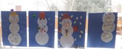 Textured Snowmen