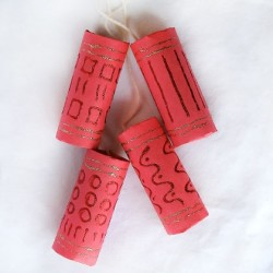 Cardboard Tube Red Firecrackers