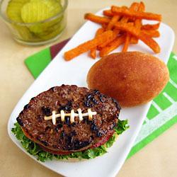 Football Shaped Hamburger